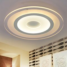 66.64$  Buy now - http://aliran.worldwells.pw/go.php?t=32788635578 - Eusolis 110 220v Acrylic Led Lights For Home Luces Led Para Casas Aydinlatma Iluminacion Modern Crystal Ceiling Lamp Lamparas 38 66.64$