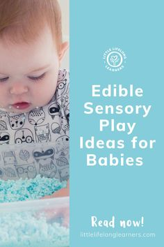 Taste-safe sensory play for babies by Little Lifelong Learners. Edible sensory play is perfect for babies and toddlers who still put things in their mouths! I'm sharing my favorite taste-safe sensory play ideas for babies, such as jelly and coloured pasta sensory play, and tips for managing messy play. Read this blog post to learn how to engage your little learner's senses with a variety of food-based textures and flavors! Edible Sensory Play, Baby Sensory Play, Sensory Bins, Sensory Activities, Infant Activities, Baby Play Areas, Small World Play, Motor Skills Activities, 9 Month Olds