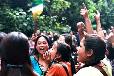 """Without any doubt, the demand for Gorkhaland is actively carried out by our """"Gorkhaland Women""""! Long Live the women of the Darjeeling Hills, gorkhey women from all over the world! Jai #Gorkha Jai #Gorkhaland Mero Pyaro #Darjeeling ko didi, bahini haru lai Gorkhey salaam!"""
