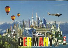 The postcard came from Germany.  Collection.
