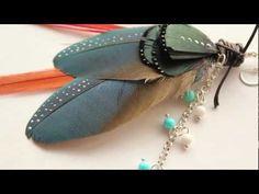 DIY: How to make a feather earring.  www.youtube.com/mymandarinducky