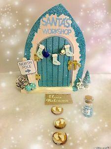 Fairy-Door-Elf-Door-Santa-Christmas-Elves-Fairies-Accessories-Gift-Set Christmas Frames, Christmas Fairy, Santa Christmas, Christmas Villages, Elf Decorations, Christmas Decorations, Holiday Decor, Fairy Crafts, Xmas Crafts