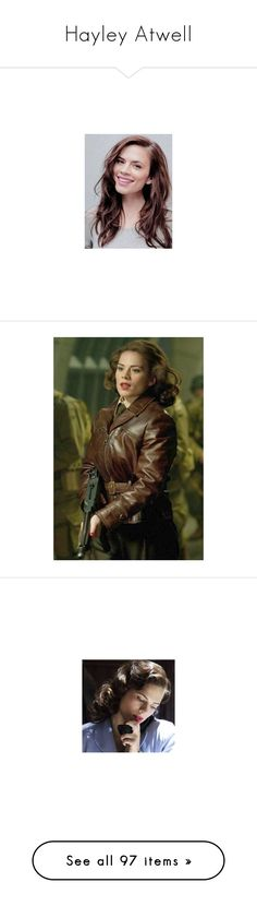 """Hayley Atwell"" by lovely-philosopher ❤ liked on Polyvore featuring black and white, marvel, icon, hayley atwell, avengers, people, pictures, superheroes, peggy carter and comics"