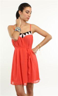 coral summer dress :)