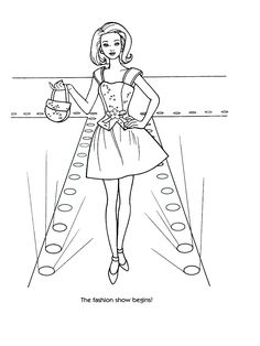 Barbie Fashion ColoringPages Colouring Pictures to Print