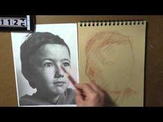 Portrait à main levée 20' avec la technique du clair obscur - portraitfacile.com - YouTube