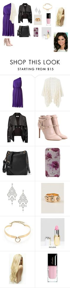 """""""Gulnare is"""" by aydannagiyeva ❤ liked on Polyvore featuring Halston, MANGO, HIDE, Valentino, Karl Lagerfeld, Kate Spade, Anne Klein, Chanel, Alexis Bittar and Winky Lux"""