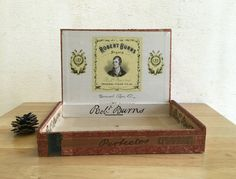 Vintage Robert Burns Wooden Cigar Box / by RedRavenCollectibles