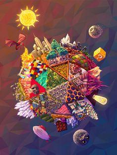 Inspiredology Poster by JR Schmidt, via Behance Schmidt, Game Design, Design Art, Game Art, Types D'art, Card Tattoo, Poster On, Illustrations Posters, Illustration Art