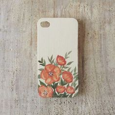 Coral Flowers iPhone 4S or 4 case