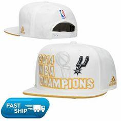 San Antonio Spurs adidas 2014 NBA Finals Champions Locker Room Snapback Hat  - White 55ae5a2a5f