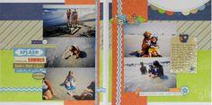 """Splashing the Day Away"" layout by Stephanie Matlack, Design Team member."