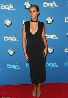 Simply stunning: Kerry Washington wowed in a low-cut LBD at the69th Annual Directors Guild of America Awards in Beverly Hills, California, on Saturday