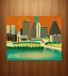 Austin Skyline Art Print | Art Prints | Loose Petals | Scoutmob Shoppe | Product Detail