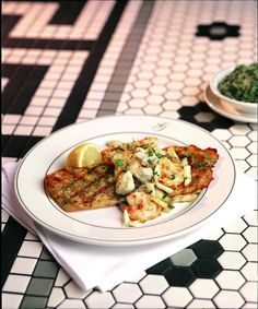 Shrimp Remoulade and Grilled Lemon Fish with Crabmeat recipes from the famous Galatoire's Restaurant in New Orleans.