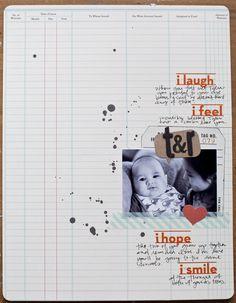 love the ledger paper!