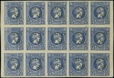 1900 Small Hermes heads surcharges, ultramarine in Athens, Greece, Auction, Stamp, Hermes, Blue, Greece Country, Stamps