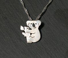 sterling silver koala pendant silver koala necklace by dejanas