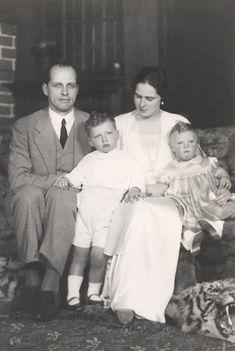 Growing family.  Ileana and Anton with their 2 eldest children, Archduke Stefan and Archduchess Maria Ileana.