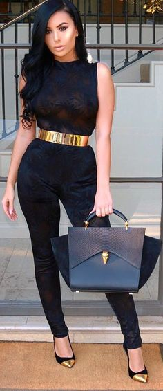 Black & Gold for the win // Fashion Trend by  amrezy