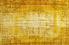 Colored Vintage Teppich - mozaiik Unikat Nr. 130TV Carpets, Vintage World Maps, Design, Color, Scrappy Quilts, Vintage Yellow, Vintage Rugs, Farmhouse Rugs, Rugs