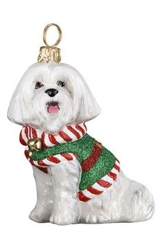 Santa's Little Yelper- Maltese Ornament. Nordstrom
