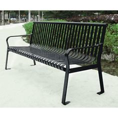 Good Northgate Metal Park Bench | Outdoor Steel Benches | The Bench Factory