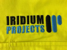 Iridium embroidery by the Print Bar