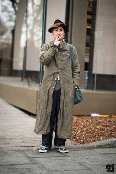 Japanese man wearing Paul Harnden Mitsuru Tsukahara |