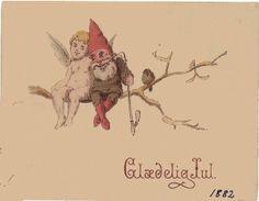 Billede fra http://gallerisvinestien.dk/wp-content/uploads/2011/12/Nisse-f%C3%B8rste-danske-julekort-1882-Alexander-Svedstrup.jpg.