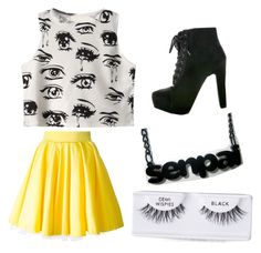 """""""Anime look"""" by kyleigh-rodgers on Polyvore featuring Chicnova Fashion, Philipp Plein and Ardell"""