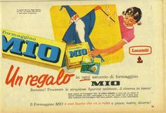 figurine Formaggino Mio Locatelli - Anni 60-70