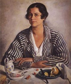 Portrait of the artist's daughter - Zinaida Serebriakova - WikiArt.org