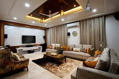 Here you will find photos of interior design ideas. Get inspired! Drawing Room Ceiling Design, Drawing Room Interior, House Ceiling Design, Ceiling Design Living Room, Bedroom False Ceiling Design, Wooden Ceiling Design, Living Room Paint Design, Living Room Tv Unit Designs, Home Room Design