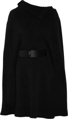 Alexander McQueen Coats for Women Alexandre Mcqueen, Burberry Boots, Wool Cape, Straight Jacket, Wrap Sweater, Black Wool, Black Belt, Custom Clothes, Everyday Fashion