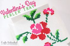 Thought I would have some Valentine's Day fun with my son's latest craft obsession, Perler Beads. Make your own cute Valentine tray with our free printable!
