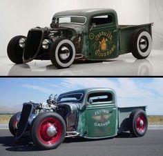 Rc Cars And Trucks, Hot Rod Trucks, Custom Trucks, Cool Trucks, Rat Rod Pickup, Pickup Trucks, Model Cars Building, Classic Hot Rod, Ford Super Duty