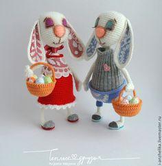 Купить Мастер-класс. Пасхальный кролик. Описание вязания. - белый, Пасха, пасхальный сувенир