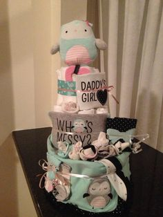 #diapercake #baby #diapers #babyshower