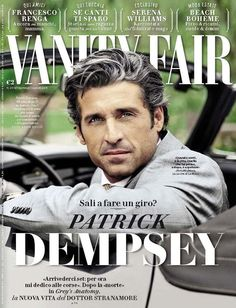 Vanity Fair Italian magazine Patrick Dempsey Francesco Renga Serena Williams   .