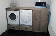 #wasmachineombouw #steigerhout #opmaatgemaakt #washok #waskamer #woodchoice Small Room Bedroom, Wash N Dry, Bathroom Inspiration, Bathroom Ideas, Cool Things To Make, Laundry Room, Washing Machine, Sweet Home, Garage