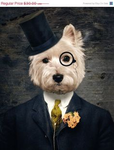 OMG, Love this!!!!    SALE  Westie Art Dog Print Westies West Highland by TheLonelyPixel