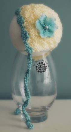 Crochet baby hat - Baby Photo Prop - Bonnet hat - Pixie hat. $20.00, via Etsy.