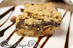 Chocolate oatmeal bars. Made these and they are oh-so good (and easy)!!!