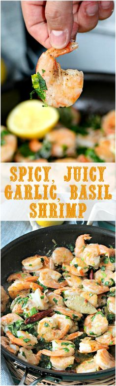 Spicy Garlic Shrimp Recipe with Lemon and Basil - Peas and Peonies