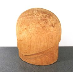 Balsa Hat Mold VINTAGE Antique MILLINERY Hat Block Hat Mold Balsa Wood Display Millinery Supply Fashion Display FREE Shipping (T146) by punksrus on Etsy