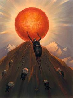 Vladimir Kush is a Russian born surrealist painter and sculptor.