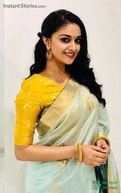 Exclusive stunning photos of beautiful Indian models and actresses in saree. Beautiful Bollywood Actress, Most Beautiful Indian Actress, South Indian Actress Hot, South Actress, Prettiest Actresses, Elegant Saree, Tamil Actress Photos, Thing 1, Celebs