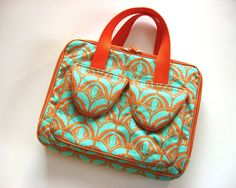iPad Case  iPad Bag Ready to Ship Orange and by StudioCherie, $65.00
