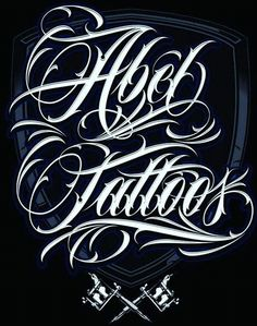 Ideas For Tattoos lettering Tattoo Lettering Design, Chicano Lettering, Calligraphy Tattoo, Script Lettering, Calligraphy Letters, Tattoo Fonts, Typography Logo, Lettering Styles, Alfabeto Tattoo